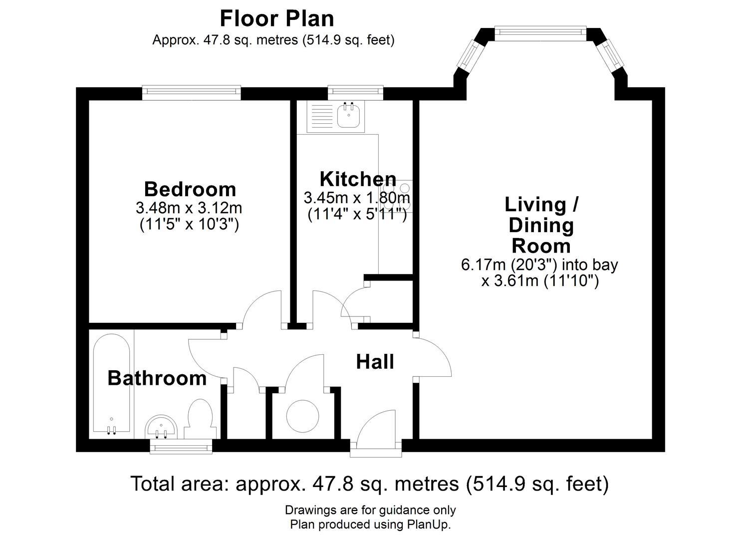 Floor plan The Mallards, River Lane, Cambridge